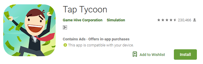 Download Tap Tycoon App
