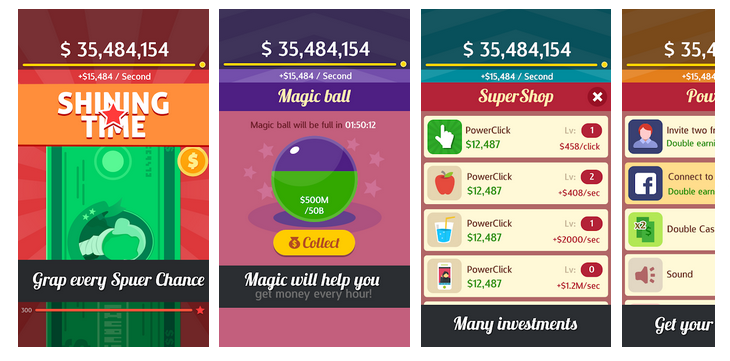 Make Money Rain Cash Clicker App