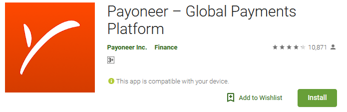 Payoneer - Global cash card mobile app