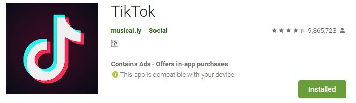 Download the Tik Tok app 2019