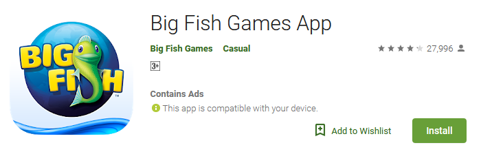Download Big Fish Games App