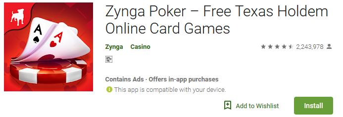 Download Zynga Poker App