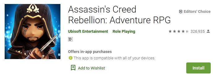 Assassins Creed Rebellion Adventure RPG