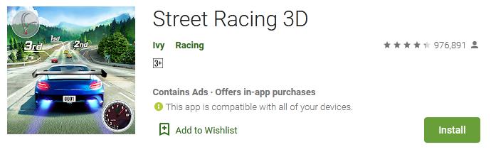 Street Racing 3D App